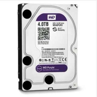(全新)WD Purple (WD40PURX)SATA3 6Gb/s /64MB HDD 監控硬盤