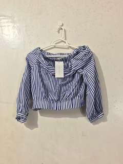 Zara Off-Shoulder Crop Top