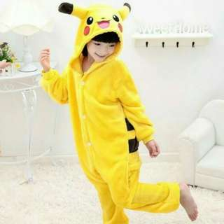Clearance Sales ! Pikachu Hooded Jumpsuit Dressup Playtime