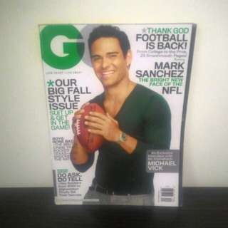 GQ Magazine Mark Sanchez Sept 2011