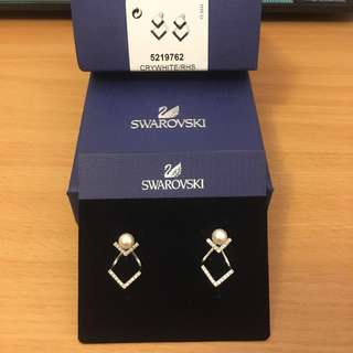 Swarovski Edify earring jacket rhodium (silver color)