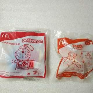 McDonald's 麥當勞 2009及2010年 絕版  哆啦A夢毛公仔掛飾 膠玩具