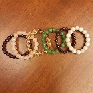 6 x Bracelet feng shui krystal