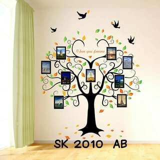 Wallsticker Uk. 2x60x90 Motif Frame Pohon Cinta