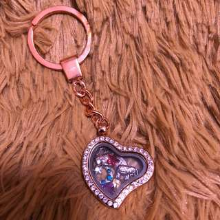 [Clearance Sale]~Rose Gold Keychain Memory locket #Easter20