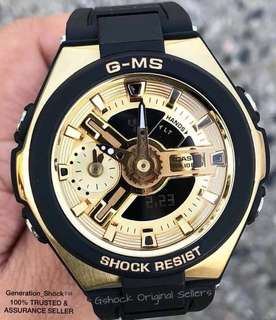 NEW🌟EDITION in CASIO BABYG DIVER WATCH : 1-YEAR OFFICIAL WARRANTY : 100% ORIGINALLY AUTHENTIC BABY-G Shock Resistant in BLACK-GOLD Best Gift For Most Rough Users MSG-400G-1A2DR / MSG-400 / MSG400 / MSG400G / G-MS / GMS / GMA /GMAS