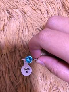 [Clearance Sale]~Size 8 blue ring