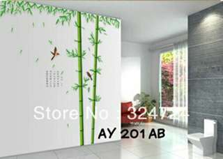 Wallsticker Uk. 2x60x90 Motif Dua Bambu