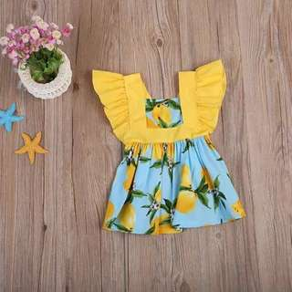 <Instock> Yellow Flutter Sleeve Lemon Dress