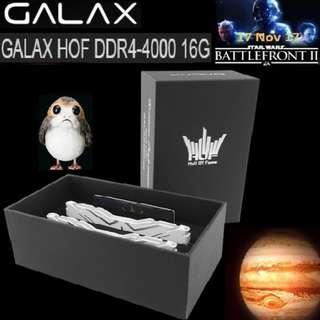 GALAX HOF DDR4-4000 16G(8G*2)#