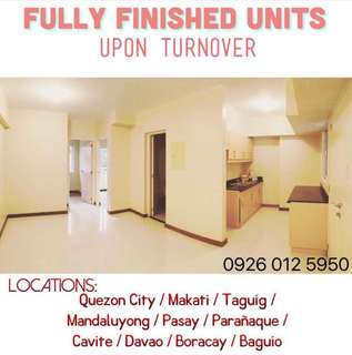 Ready for Occupancy Condominiums by DMCI Homes