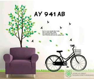 Wallsticker Uk. 2x60x90 Motif The World To Me