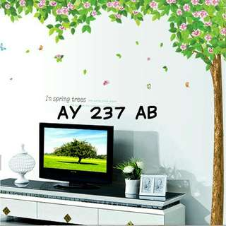 Wallsticker Uk. 2x60x90 Motif Spring Trees