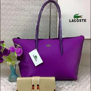 Lacoste Set/600 Only  Size 17 inches  Add50 Paperbag