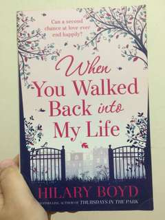 "English Novel ""When You Walked Back into My Life"""