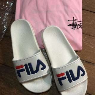 Customer's fila shoes and Stussy shirt (inspired)