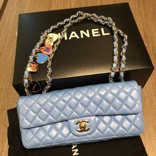 Chanel Baby-blue Classic Flap