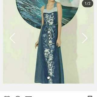 Plains and prints LIMITED EDITION LONG DRESS