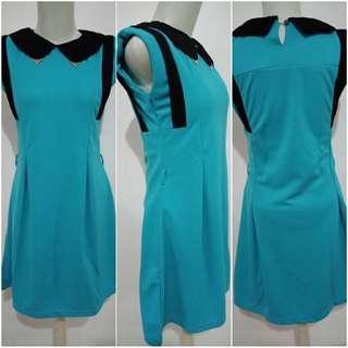 Dress Wanita Mini Dress Toska