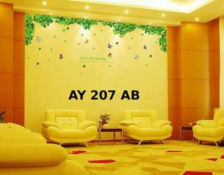 Wallsticker Uk. 2x60x90 Motif Love Like Butterfly