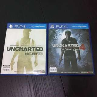 PS4 Uncharted collection 1-3 & 4(中文版)