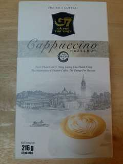 G7 cappuccino Hazelnut (product of Vietnam) 越南G7榛子咖啡 一盒12小包