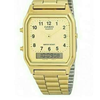 Casio Vintage Watch AQ-230GA-9B Unisex