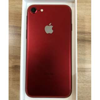 iPhone 7 (PRODUCT)RED 128GB with warranty 100% smooth