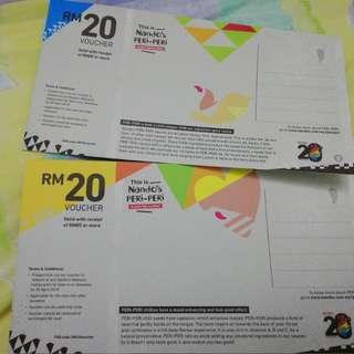 Nando's RM40 cash voucher