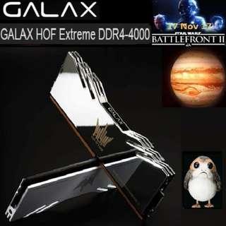 GALAX HOF Extreme DDR4-4000 16G(8G*2)#