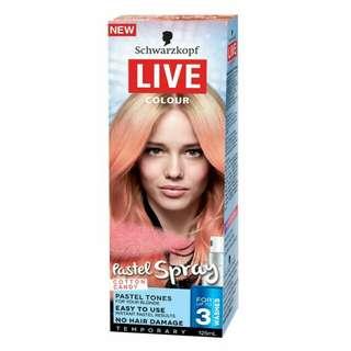 Schwarzkopf live colour pastel spray cotton candy