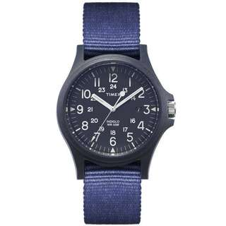 Timex Blue Face 34 / Strap 25.5 x 10 mm