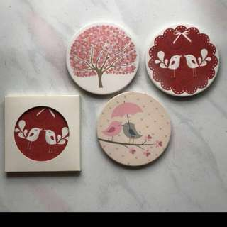 Water absorbent coasters