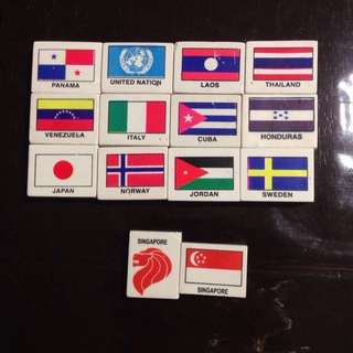 Country Erasers 14 pcs