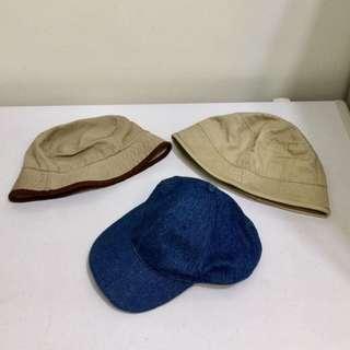 魚夫帽 棒球帽 咖啡色 藍色