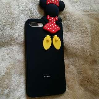 (將軍澳專賣店)米奇米妮 iphone 7plus/ iphone 8plus電話保護套 iphone case mickey mouse