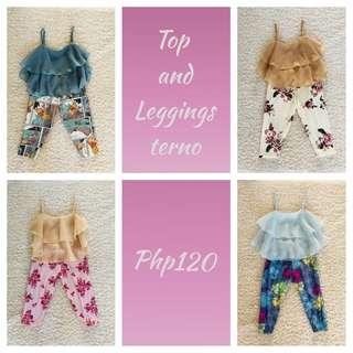 Top and leggings terno