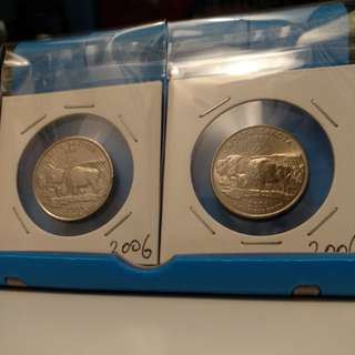 USA Quarter dollar x4