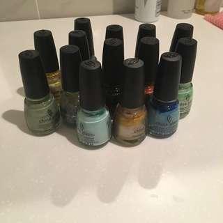 CHINA GLAZE assorted nail polish