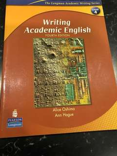 Writing Academic English by Alice Oshima and Ann Hogue