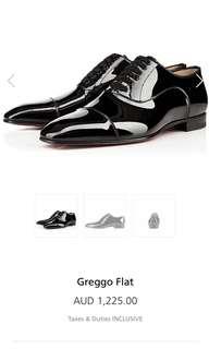 Christian Louboutin Mens Greggo Flat Patent Leather Shoe