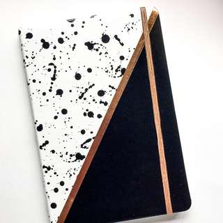 FREE NORMAL MAIL Modern Abstract Lined Note Book ( Hard Cover)