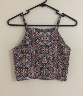 Colourful Patterned Crop