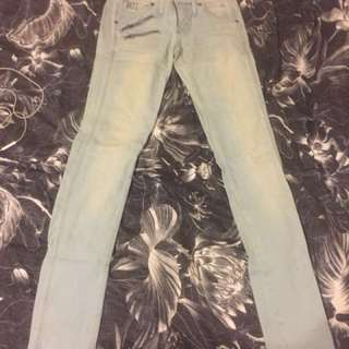 G-star Raw light wash low rise jeans size 26