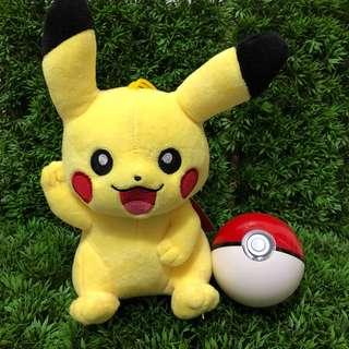 [小型] 精靈寶可夢-皮卡丘招手版絨毛娃娃 #神奇寶貝#pokemon go#皮卡丘