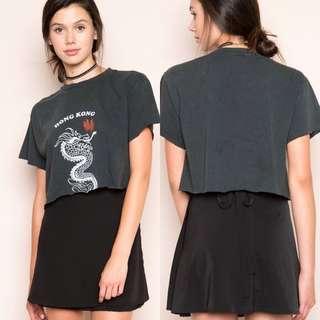 Brandy Melville Genevieve Black Skirt