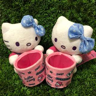 [小型] Hello kitty 絨毛置物娃娃 #三麗鷗#凱蒂貓#置物盒#置物罐