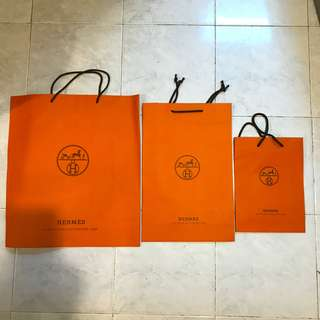 Hermes paper bag 3size