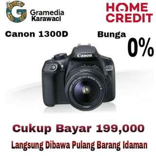 Kamera Canon 1300D Bisa Kredit 0% Bunga