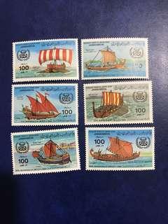 1983 利比亞郵票 6張全新